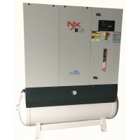 Fusheng Curtis Rotary Screw Air Compressor NxD W/Tank 220V, 3 Phase