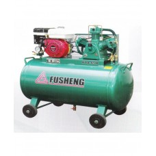 Fusheng Two-Stage Air-Cooled Oil Lubricated With Horizontal Tank ( Honda Petrol Engine )