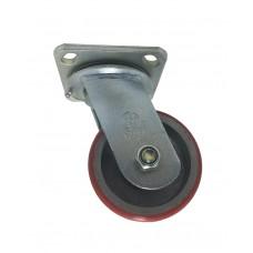 Globe Polyurethane + Cast iron Caster Swivel Type