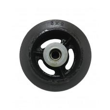 Globe Rubber + Cast Iron Caster Extra Wheel w/ Bearing