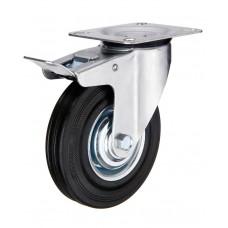 Going Rubber + Steel Caster ( Swivel w/ Brake Type )
