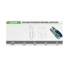 Vinox S/S Pulley Block Pin Rivet Nylon Sheave
