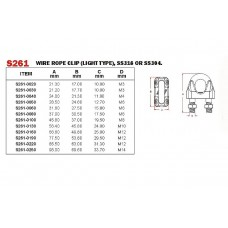 Vinox S/S 304 Wire Rope Clip