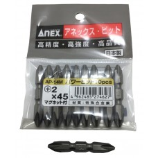 "Anex Screwdriver Bit 1/4"" Shank Double End"