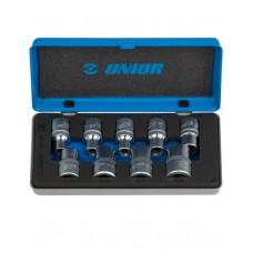 "Unior Inner Torx Socket Set 1/2"" Square Drive"
