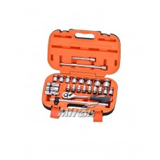 "King Tools or Mitools Socket Wrench Set 1/2"" Square drive x 6 point"